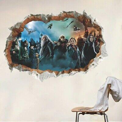 Harry Potter Wand Aufkleber 3D Optik Schlafzimmer Kinder Hogwarts