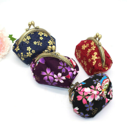 Collectable Handmade Japanese Style Fans Clasp Coin Purse Bag Change Wallets G 2