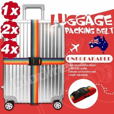 Travel Luggage Strap Suitcase Belt Adjustable Password Secure Lock Nylon Packing 3