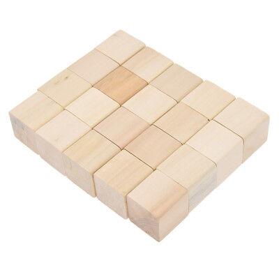 Geschenk Natürlich Kiefern Holz Würfel x20 Für Kind Spielzeug DIY Baukasten 25mm
