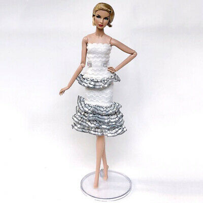 1set High Fashion Doll Clothes for 1/6 Doll Outfits Top Shirt & Skirt & Shawl 2