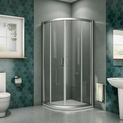 Aica Offset Quadrant Shower Enclosure and Tray Corner Cubicle Glass Door Screen 5