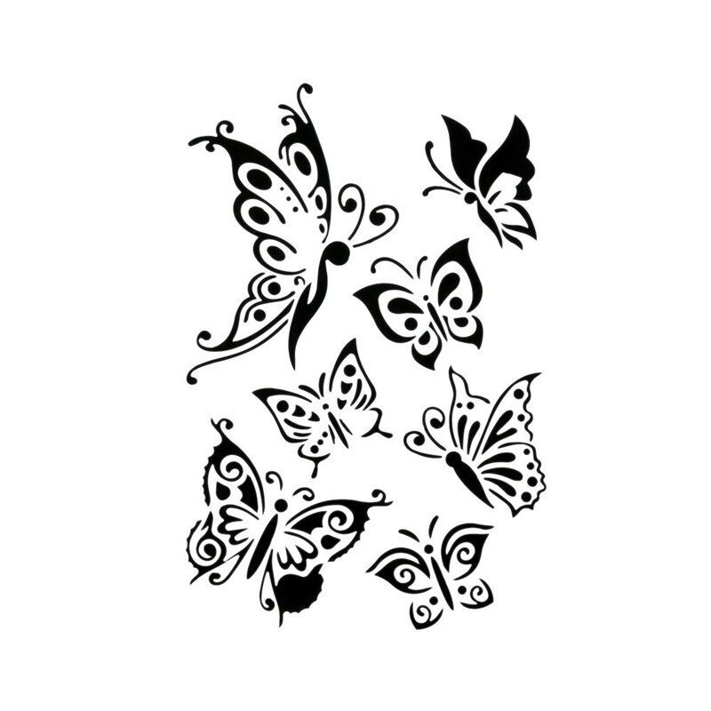 Diy Craft Butterfly Stencils Template Painting Scrapbooking Stamps