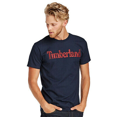 NWT Timberland Men's Faded Linear Logo Short Sleeve Crew Neck T Shirt A11GY NEW 3