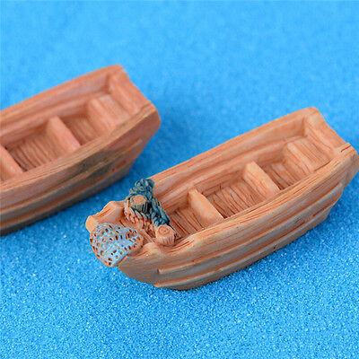 Angeln Boot Miniatur Fee Garten Dekoration DIY ZubehörFT  X