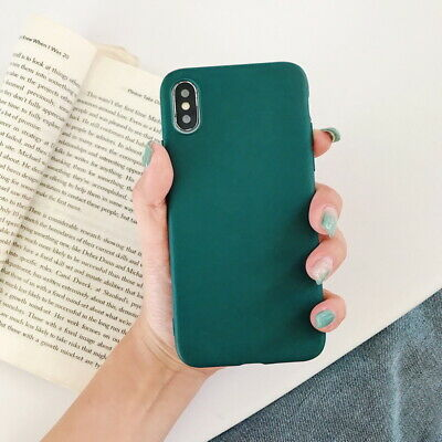 Frosted Matte Candy Soft Silicone Case Cover For iPhone XS Max XR X 8 7 6s Plus 7