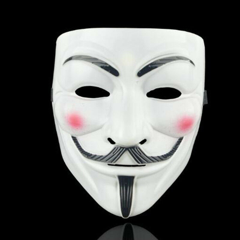 Unisex Anonymous Hacker V Vendetta Game Master Face Mask Carnival Party Cosplay