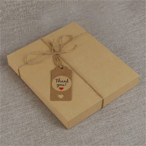 100pcs Blank Kraft Paper Hang Tags Wedding Party Favor Label Price Gift Card SS 7