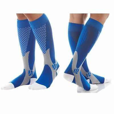 (2 Pairs) Compression Socks Sports Men Women Calf Shin Leg Running Fitness S~XXL 5