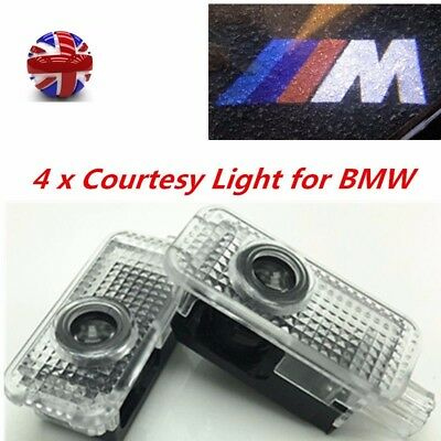 2/4PCS BMW LED Courtesy Laser Welcome Projector Logo Shadow Car Door Lights Lamp 5