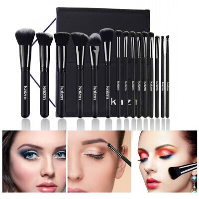 15pcs/set Professional Cosmetic Makeup Brush Foundation Brushes with Bag Case 5