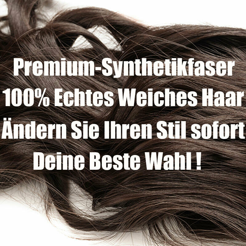 Umwickeln Pferdeschwanz Echt Weich Haarverlängerung Clip In Lang Haarteil DE lsn 7