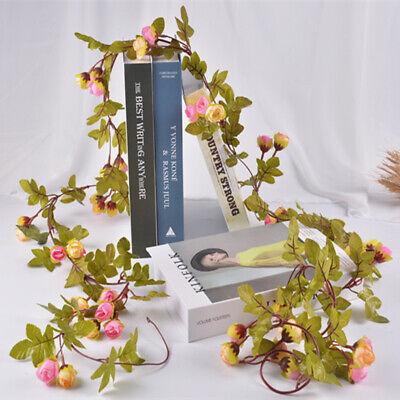 Cute 7Ft Artificial Fake Silk Rose Flower Hanging Garland Garden Wedding Decor 6