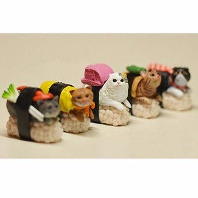 Details about  /Kitan Club Capsule Sushi Neko Cat Meow Mini Figure Kitty Collection Set 5pcs