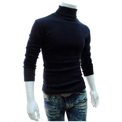 Mens Thermal Turtleneck Sweater Tops Jumper Pullover Winter Warm Sweatshirt Tops