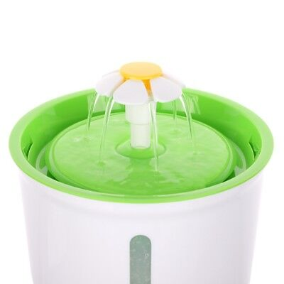 Automatic Cat Dog Water Drinking Flower Fountain Pet Bowl Drink Dish Filter Hot