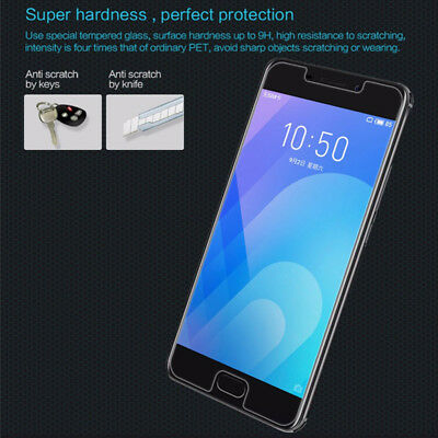 2Pcs 9H Tempered Glass Film Screen Protector Cover For Meizu M5 M6 M5Note M6Note 11