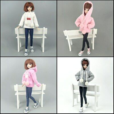 Fashion Doll Clothes Sweatshirt Coat For 11.5in. Doll Outfits Pants Shoes 1/6 7