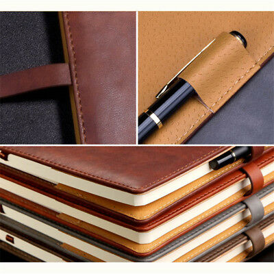A5 PU Leather Vintage Journal Notebook Lined Paper Diary Planner with Buckle 3