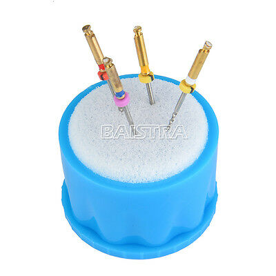 10X Dental Autoclavable Round Endo Stand Cleaning Clean Foam Sponges File Holder 2