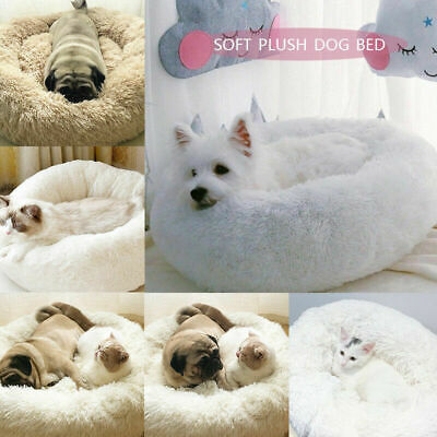 Comfy Calming Dog/Cat Bed Round Super Soft Plush Pet Bed Marshmallow Cat Bed UK~ 8