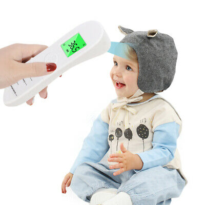 Temporal Forehead Thermometer Gun LCD Digital IR Infrared Adult Body Temperature 5