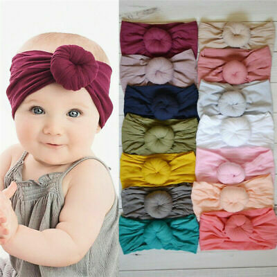 Baby Toddler Girls Kids Bunny Rabbit Bow Knot Turban Headband Hair Band Headwrap 12