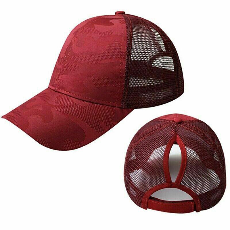 Women Pony Cap Messy High Bun Ponytail Adjustable Mesh Baseball Hat Cute Ne CP 8