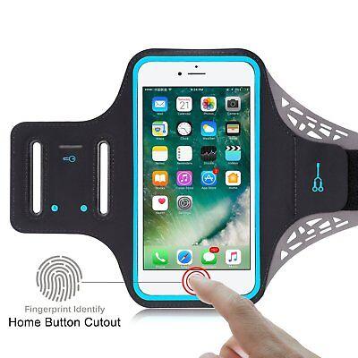 Sports GYM Running Exercise Armband Case w/ Key Slot For Apple iPhone 8 / 7 Plus