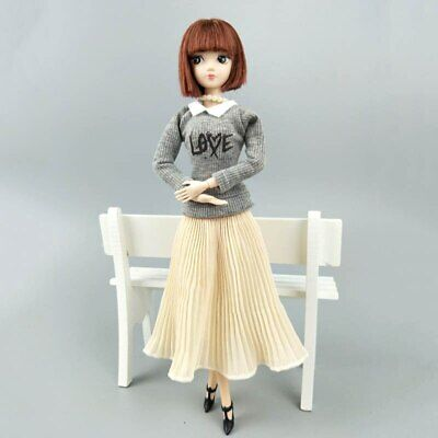 "Fashion Doll Clothes Top Blouses Chiffon Pleated Skirt For 11.5"" Dolls Clothes 8"