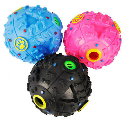 Giggle Ball Pet Dog Sound Training Chew Treat Holder Toy Food Dispenser 4