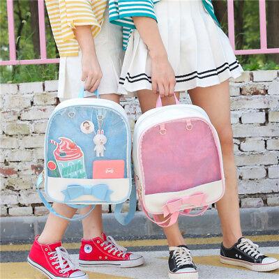 6 Colors CHIC  ita bag Transparent Pin Display Backpack Kids Student School bags 5