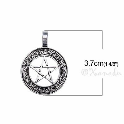 5 Or 10PCs Celtic Triquetra Knot 33mm Antiqued Silver Plated Pendants C9217-2