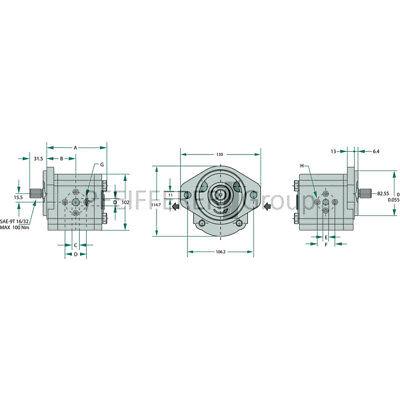 Gruppe 2 PLP20.8D0-54B5-LBE//BC-N-EL FS CASAPPA Zahnradpumpen Polaris 20