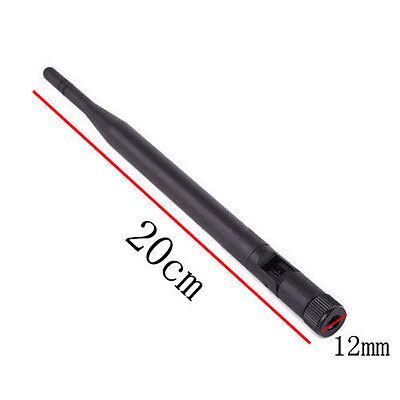 RP-SMA Omni-Directional Band 2.4GHz 6dBi Wireless WiFi Router Antenna 1PC  F2U7