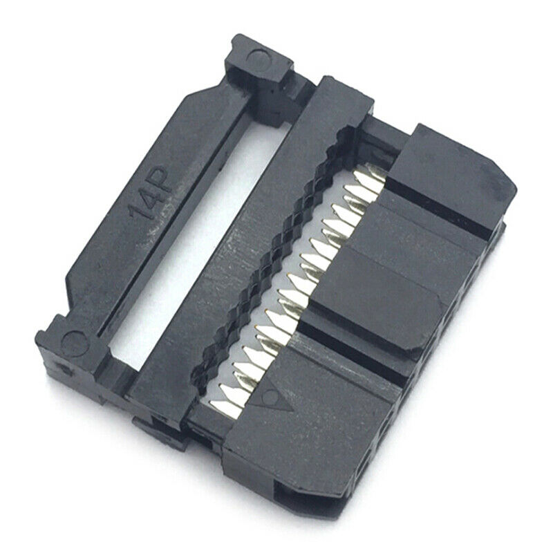 10x 6/8/10/12/14-50Pin IDC Socket Plug Ribbon Cable Connector 2.54mm Pitch xiSBF 7