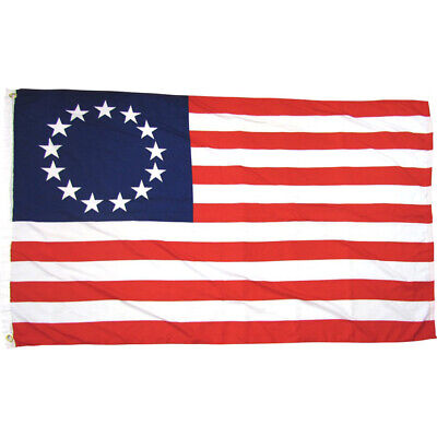 13 Star Colonial Flag American US Colonies Betsy Ross Retro Red White Blue 3x5 5