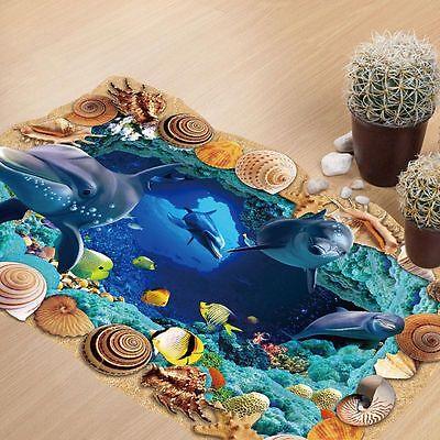 3d Wandtattoo Wandsticker Ozean Kinderzimmer Panorama Ausblick Strand Meer Sea Eur 7 69 Picclick De