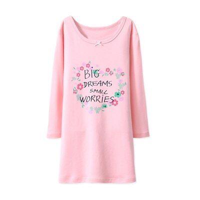 Girls Nightdress Nightie kid Pyjamas Cotton Long sleeve Nightwear Age 2-10 Years 11