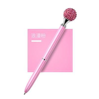 1X Metal Diamond Head Crystal Ballpoint Pen Creative Pen Stationery Gift Fashion 7