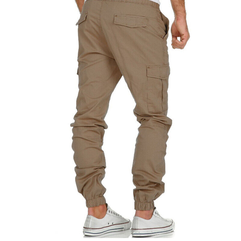 Mens Combat Cargo Trousers Work Tactical Military Army Camo Chino Long Pants AU 4