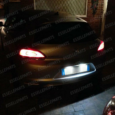 Coppia Luci Targa 18 Led Placchette Complete Vw Scirocco 6000K Bianco Canbus 3