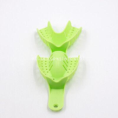 10 Pcs Autoclavable Dental Plastic Impression Trays Central Denture Disposable 7