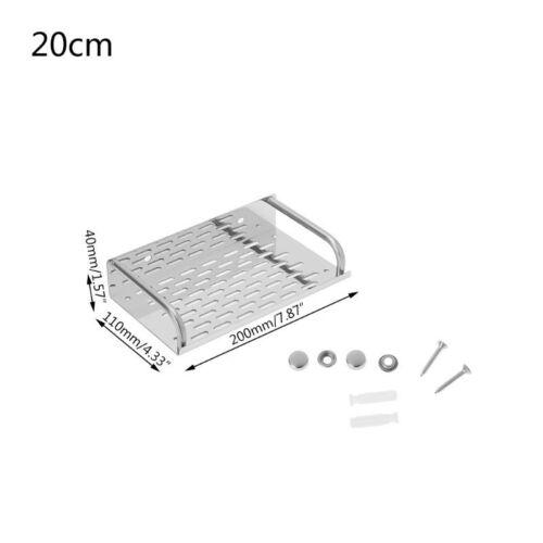 Stainless Steel Kitchen Bathroom Shelf Wall-mounted Storage Rack Single Layer 9