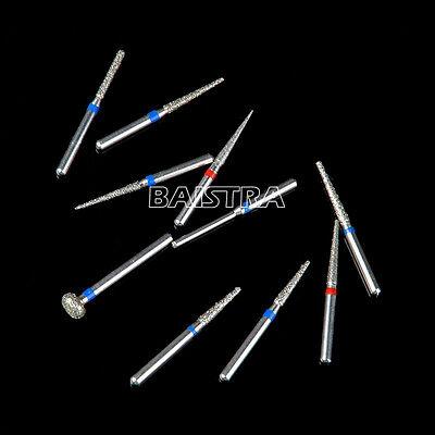 Dental Diamond Burs Bur drills Set Kit FG101-FG114 for Handpiece Air Turbine 10