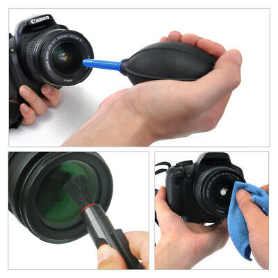 3 in 1 Lens Cleaning Cleaner Dust Pen Blower Cloth Kit for DSLR VCR Camera Canon 4