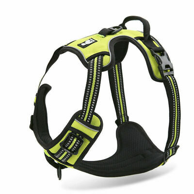No-pull Dog Pet Harness Reflective Outdoor Adventure Pet Vest Padded Handle 3M 3