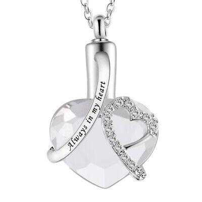 Urn Necklace Cremation Jewellery Ashes Pendant Locket Keepsake Memorial Funeral 3