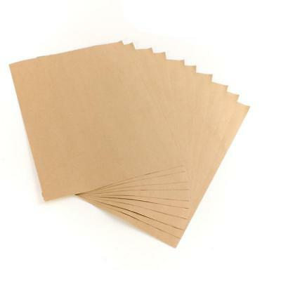 50 x Blank A4 Self Adhesive KRAFT Brown Sticker Paper Silhouette Craft Sheets 2