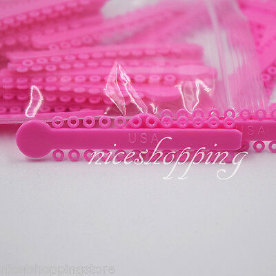 10 Packs Ligature Tie 44 Colors For Chose 10080 Pcs Dental Orthodontics Elastic 5